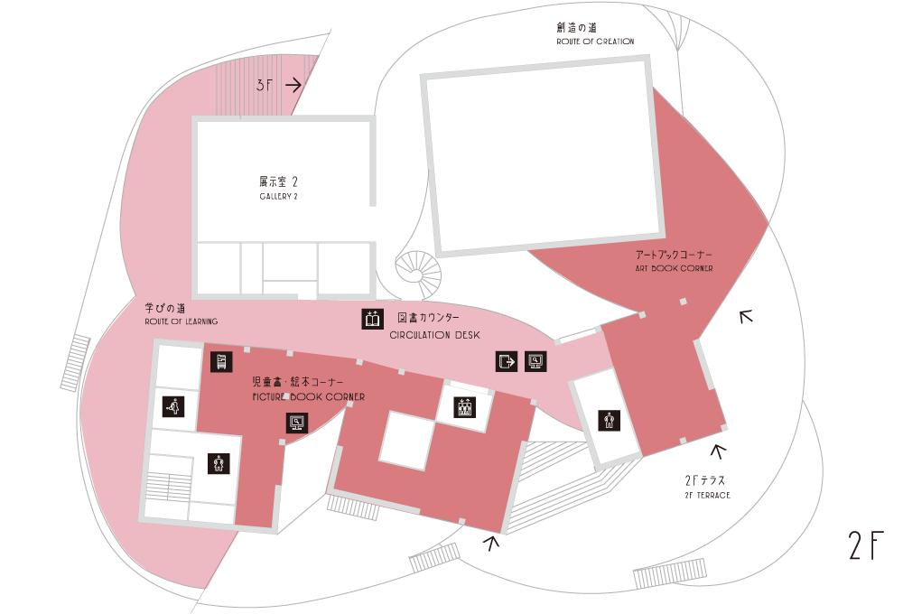 図書館フロアマップ(2F)