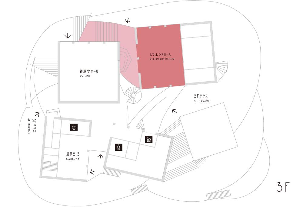 図書館フロアマップ(3F)